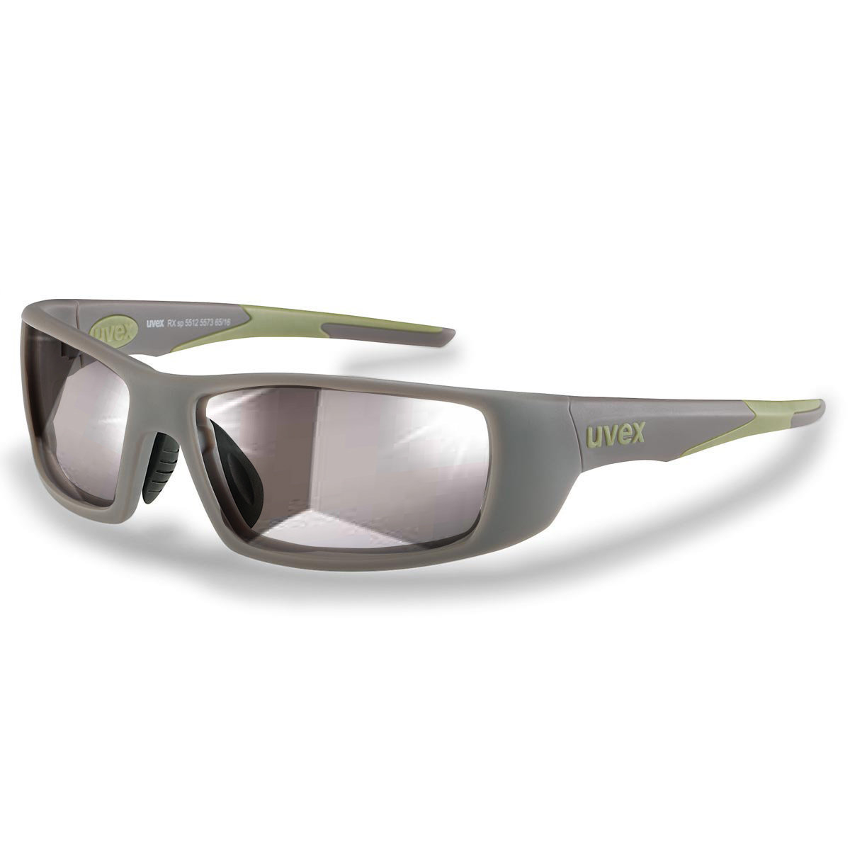 Uvex Korrektionsschutzbrille RX sp 5512 grün - Selbsttönend